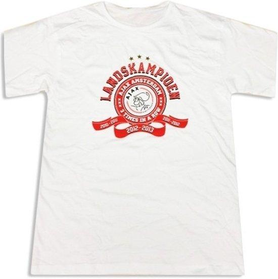 Ajax T-shirt Landskampioen 2013 Wit Maat S
