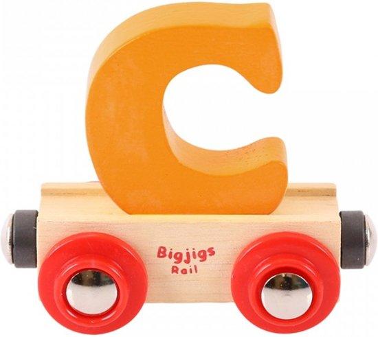 Bigjigs - Rails - Naamtrein - Letter C - Geel