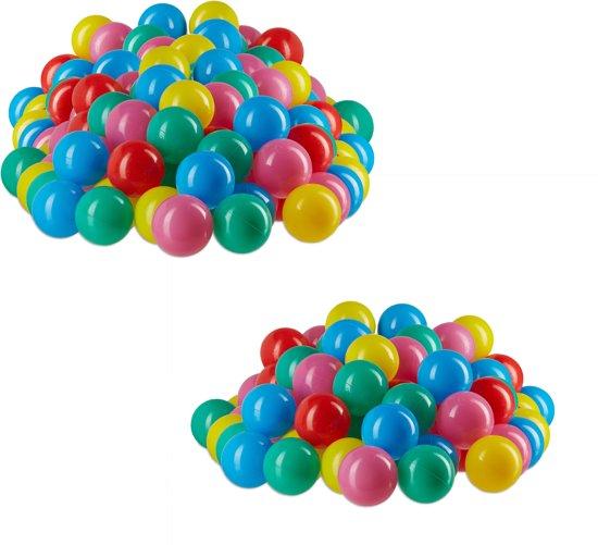 relaxdays Ballen voor het ballenbad - zachte babyballen - vrij van schadelijke stoffen Pak van 100
