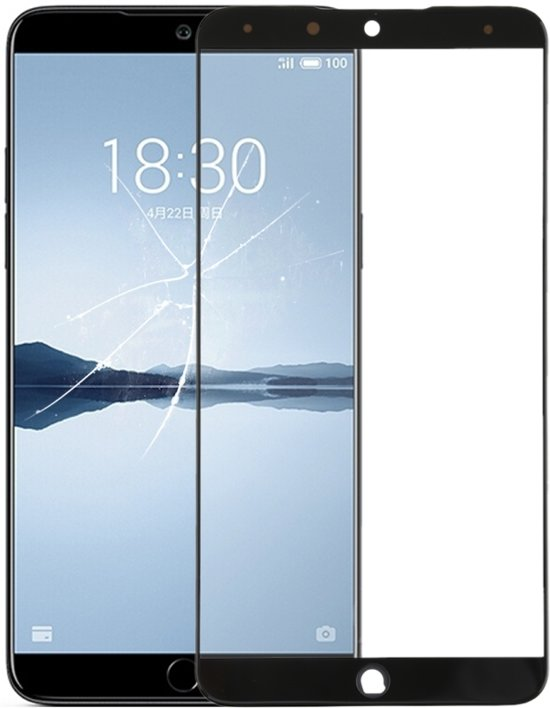 Let op type!! Voorste scherm buitenste glaslens voor Meizu 15 Plus(Black)
