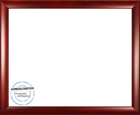 Homedecoration Colorado – Fotolijst – Fotomaat – 22 x 64 cm – Wijnrood geborsteld