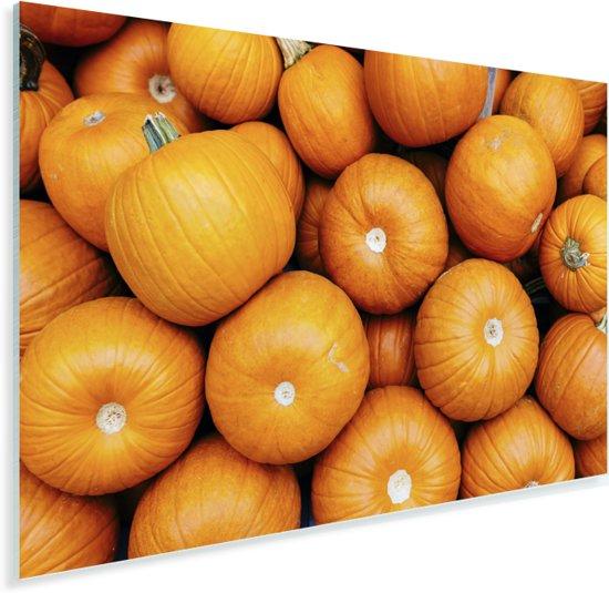 Heldere oranje pompoenen Plexiglas 60x40 cm - Foto print op Glas (Plexiglas wanddecoratie)