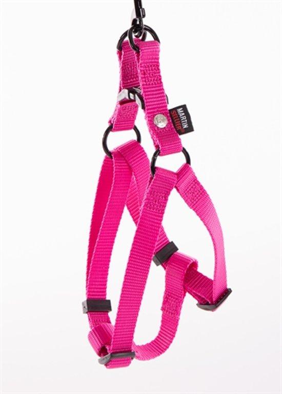 Martin sellier instap tuig voor hond nylon roze 10 mmx25-35 cm