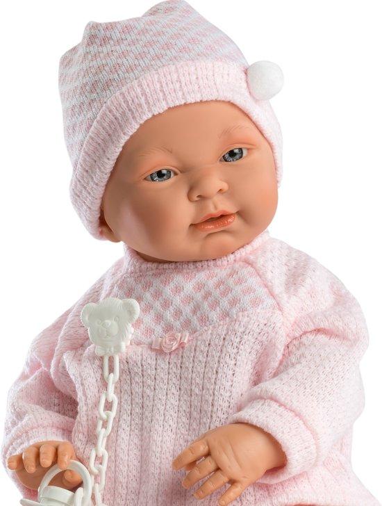 Llorens babypop blank meisje 45 cm met kleding en speen
