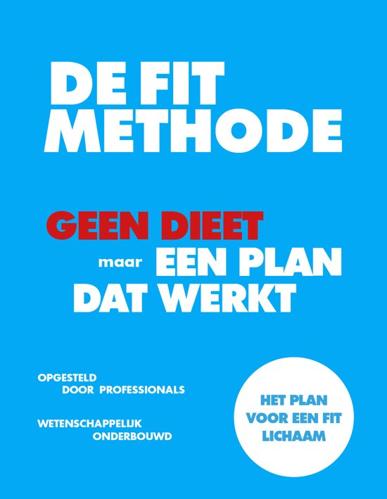 Boek cover FIT Methode - De FIT Methode van Jeroen van der Mark (Paperback)