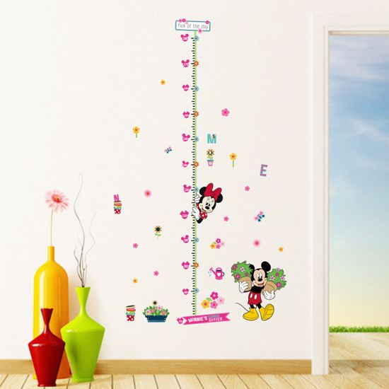 Mickey Mouse Muursticker.Bol Com Muursticker Kinderkamer Met Mickey Mouse En Minnie Mouse