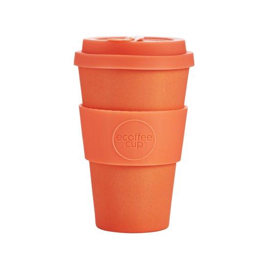 Ecoffee Cup Bamboe Beker - 400 ml Mrs Mills met Rood