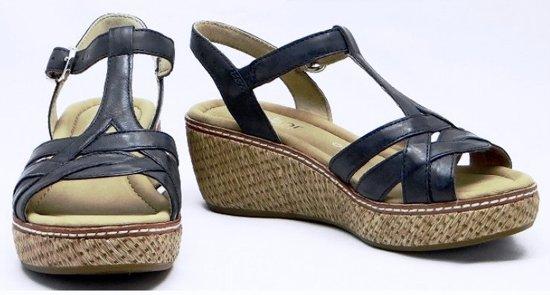 Shop für echte glatt zur Freigabe auswählen Gabor Dames Plateau sandalen - Blauw - Maat 37