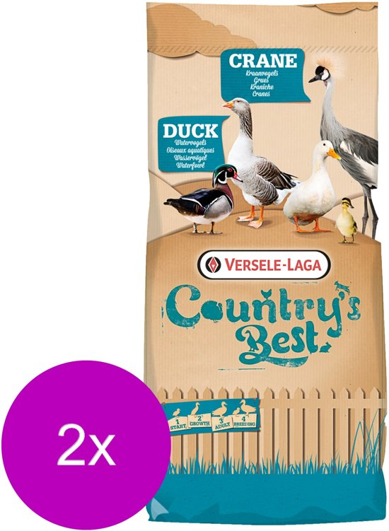 Versele-Laga Country`s Best Duck 1 Crumble - Pluimveevoer - 2 x 20 kg