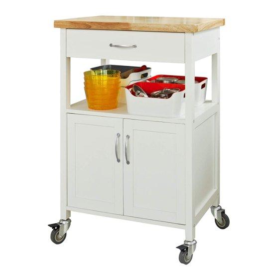 Keukentrolley - Opbergruimte - Wielen - Kantoor - Servies - Wit