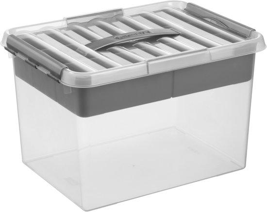 Sunware Q-line MultiBox 22L - transparant/metallic