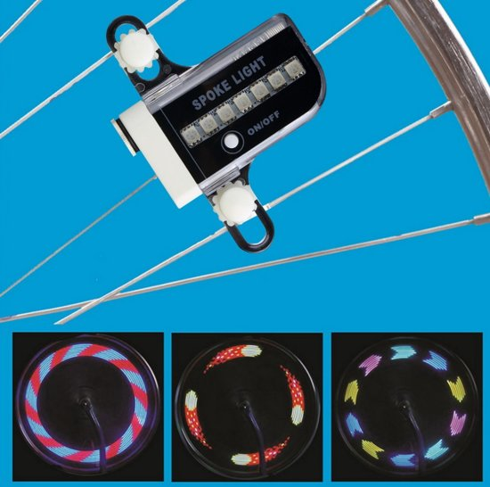 LED Fietswiel Spaak Licht Kinderen - Spaakverlichting / Fietswielverlichting.