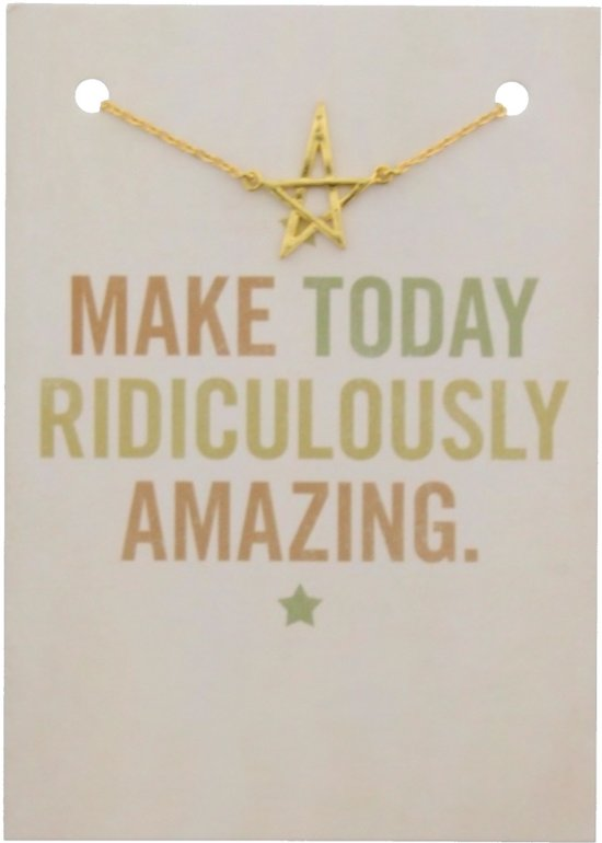 Geschenkverpakking met goudkleurige armband met ster.
