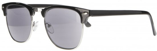 Icon Eyewear NBB211 Clubmaster Zonneleesbril +2.50 - Glanzend zwart - UV400