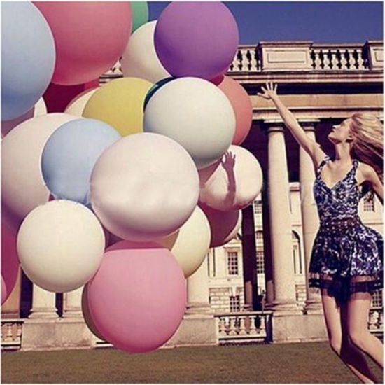 Mega Grote Ballonnen - 81cm - Reuze Ballon - Set van 7 Kleuren