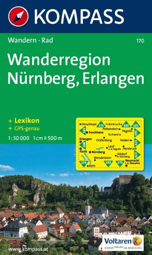 Kompass WK170 Wanderregion Nürnberg, Erlangen