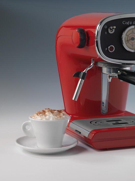 Ariete Cafe Retro Cappuccino Machine Rood