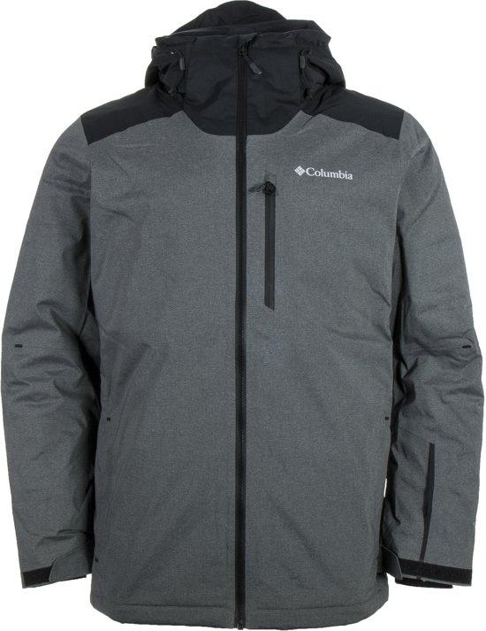 Columbia Lost Peak Wintersportjas - Maat L  - Mannen - grijs/zwart