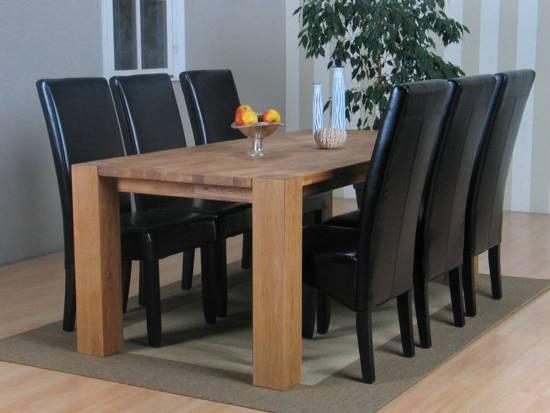 Grand eethoek tafel met 6 stoelen thor for Eethoek modern