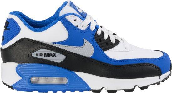 nike air max wit en blauw