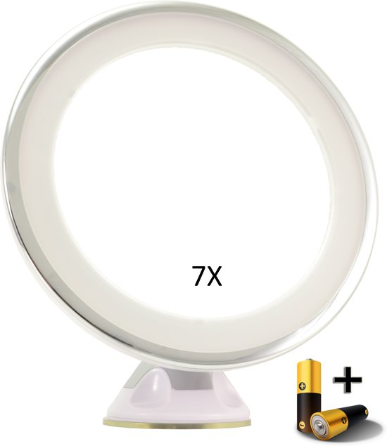 bol.com | Make-up Zuignap Spiegel LED 7x vergroting | Badkamer Spiegel