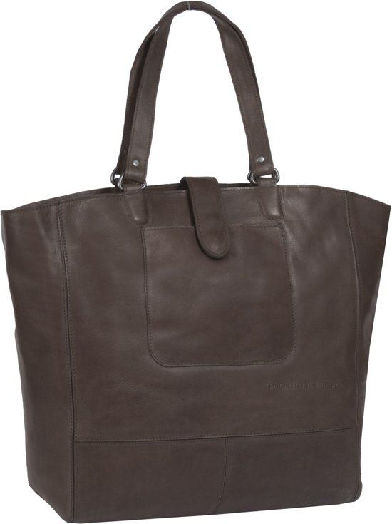 58e0fe246f2 bol.com | Chesterfield Leren Shopper Laptoptas Oldham Alison Brown