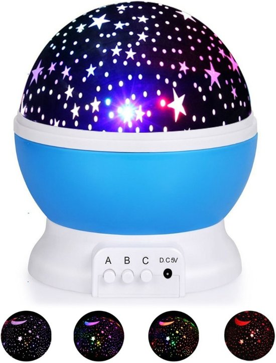 Sterrenhemel Verlichting Kinderkamer - Moon Light Projector - Nachtlampje kind | baby - nachtlamp - Snoezellamp - Spacelamp - Cadeau kind + Bijbehorende oplaadkabel!