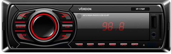 Autoradio - Met AUX, USB  ingang en bluetooth - FM radio auto - Vordon