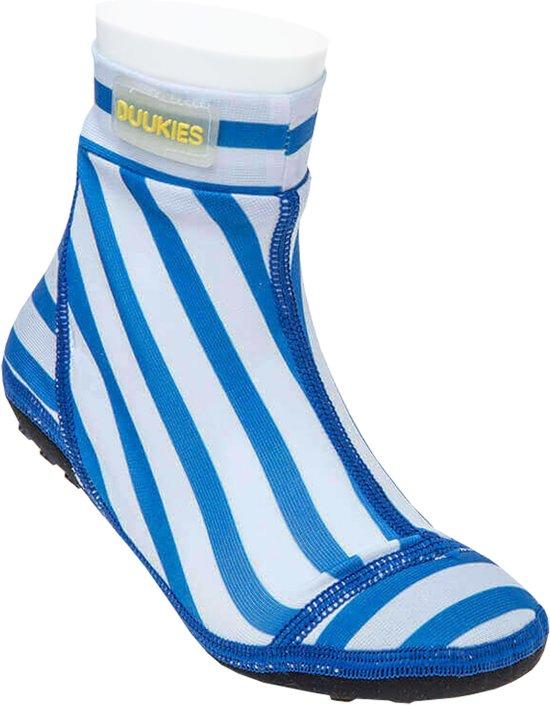 Duukies - Jongens UV-strandsokken - Stripe Blue White - Blauw streep