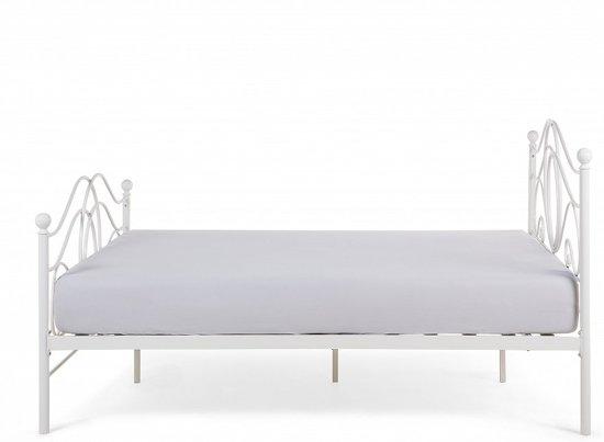 bol beliani lyra bed metaal wit 160x200 cm