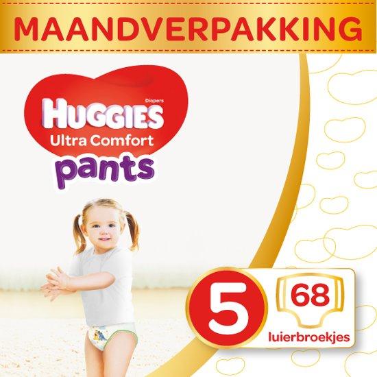 HUGGIES Ultra Comfort Pants Luierbroekjes Maat 5 - 12 tot 17 kg - Maandbox - 68 stuks - Luiers