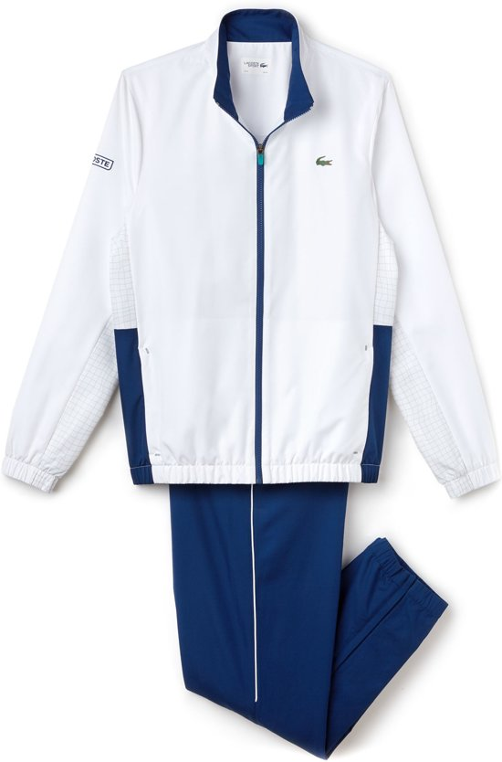 blauw Lacoste Trainingspak Mannen M CasualMaat Wit dsrthQC