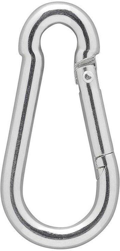 Pro+ Karabijnhaak rvs 6x60mm 2 stuks in blister
