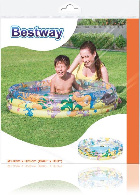 Bestway Zwembad 3 Rings Ocean Life (102x25cm)