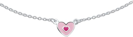 The Jewelry Collection Ketting - Hart - 36-38cm - Zilver
