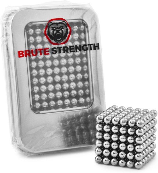 Brute Strength - Neocube Magneetballetjes - Zilver (216 balletjes | 5mm | magneet balletjes in metalen geschenkverpakking)