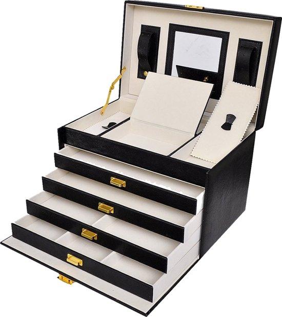 Deluxa - Luxe Sieradenbox met spiegel