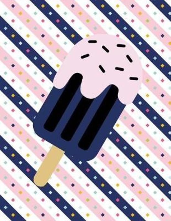 Ice Cream Notebook - Blank Unlined Paper