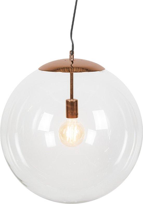 QAZQA Ball 50 - Hanglamp - 1 lichts - mm - koper