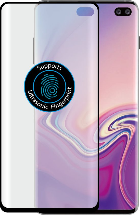 Azuri duo screenprotector curved - Voor Samsung Galaxy S10 Plus