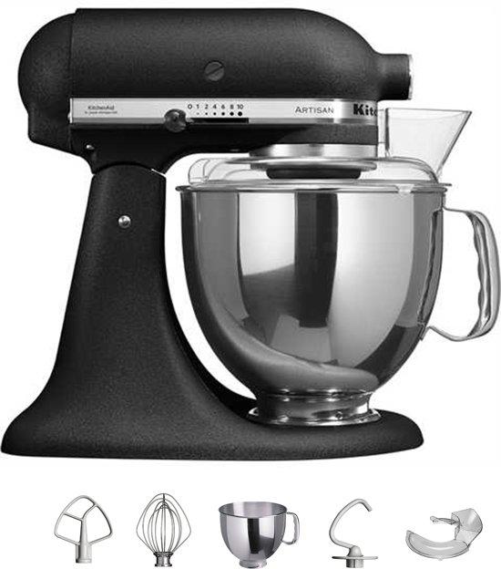 kitchenaid artisan 5ksm150psebk keukenmachine vulkaan zwart. Black Bedroom Furniture Sets. Home Design Ideas
