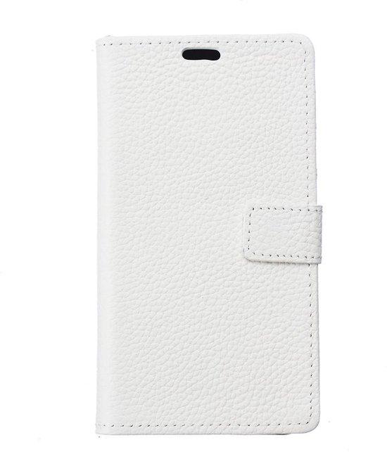 c158617379b bol.com   Witte echt leren iPhone X portemonnee hoesje