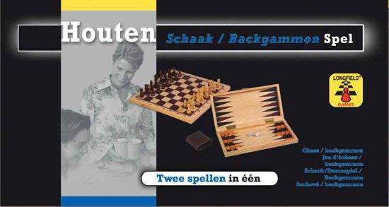 Longfield Games Schaak/Backgammon In 1 - Hout