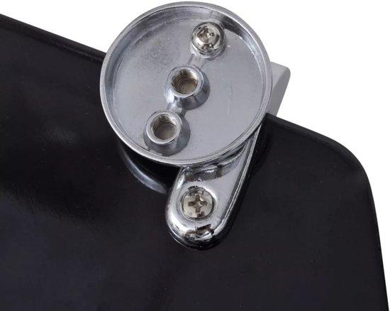 vidaXL WC-bril met MDF deksel en eenvoudig ontwerp zwart