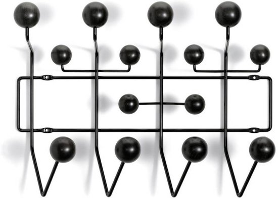 vitra hang it all kapstok zwart hout. Black Bedroom Furniture Sets. Home Design Ideas