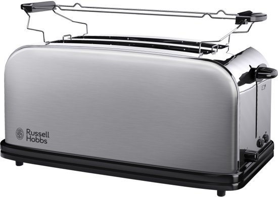 Russell Hobbs 23610-56 Adventure Long Slot 4 snedes - Broodrooster - Zilver