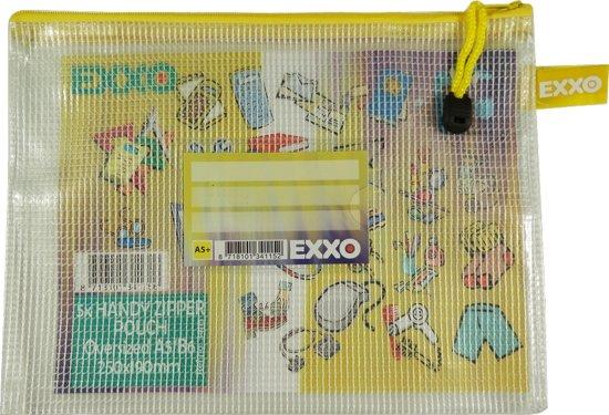 EXXO-HFP A5-XL Opbergtas Handy - Multi-Purpose - Rits Geel - 5 stuks