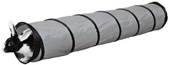 Trixie Speeltunnel Voor Konijnen - Knaagdier Tunnel -  Grijs - 117 x 19 cm