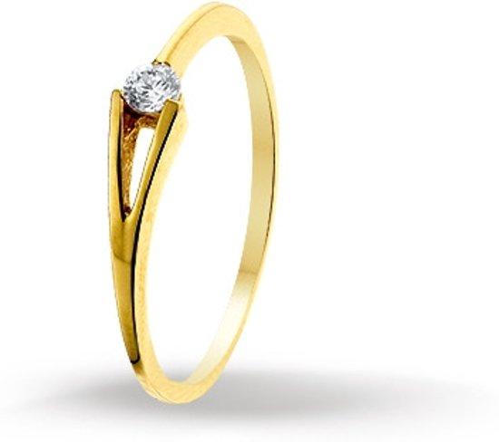 gouden ring zirkonia
