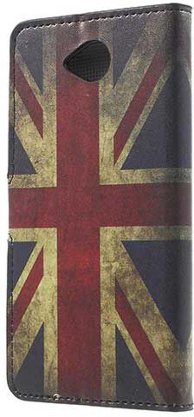 Samsung Galaxy A40 Portemonnee Hoesje met Print Britse Vlag